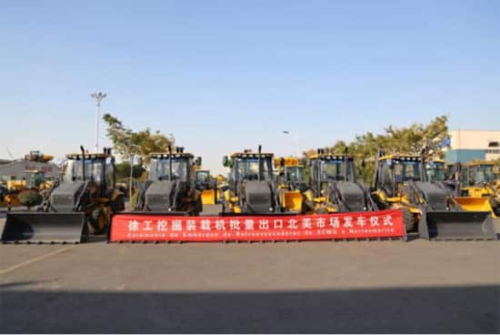 Another XCMG high-end product exported to North America in bulk for the first time