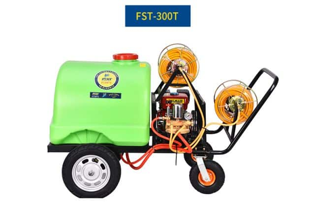 FST-300T  garden machine, 6.5HP gasonline engine, 30H cast iron pump   sprayer