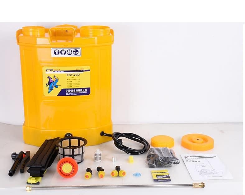 FST-20DE   knapsack electric  sprayers 12A battery  4.0L/min  pump 20L tank