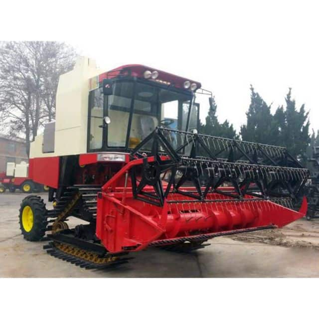ZHONGLIAN grain harvester 4LZ-8 with crawl 680mm chain width for sale