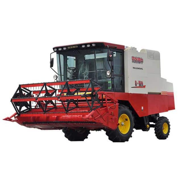 China soybean harvester 4LZ-8S self-propelled combine harvester price