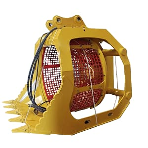 Jining Tianhong Co., Ltd   Other Buckets   Hydraulic rotary screening hopper of excavator