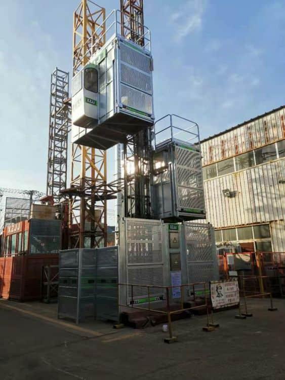 XZJJ SC270/270 building material construction lifting weight construction hoist