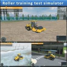 Roller training test simulator