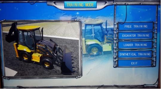 Backhoe Training&Examination Simulator