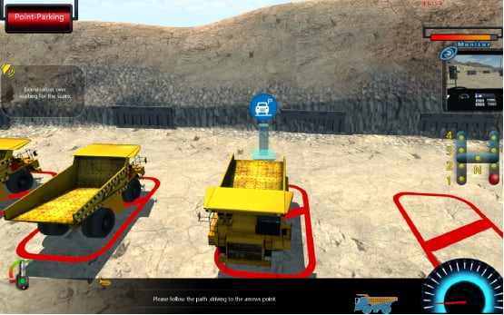 Mining Off-highway Truck Training&Examination Simulator