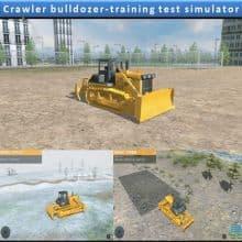 Crawler bulldozer-training test simulator
