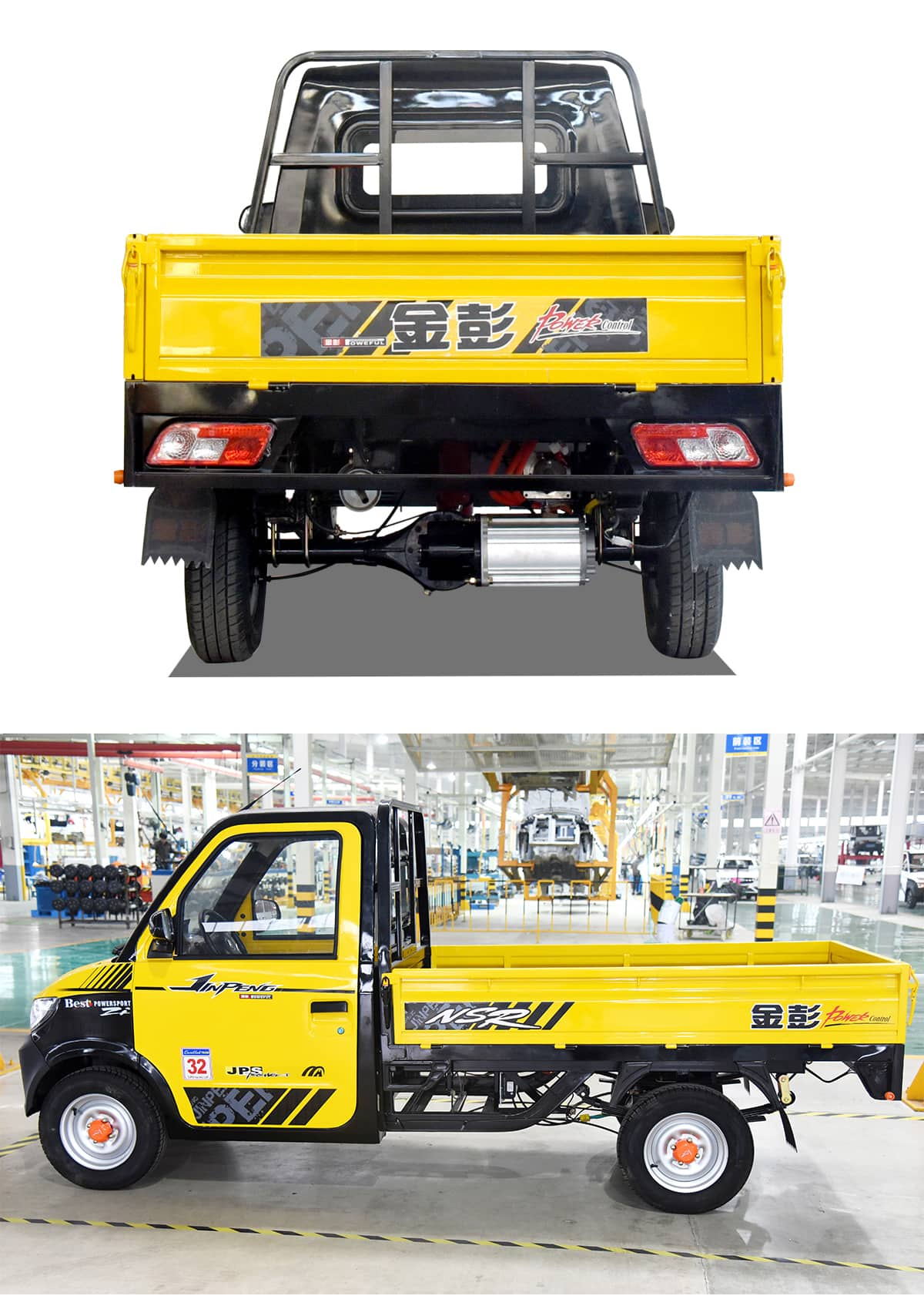 Kingbon electric 4 wheel closed cargo truck cabin electric cargo truck van car