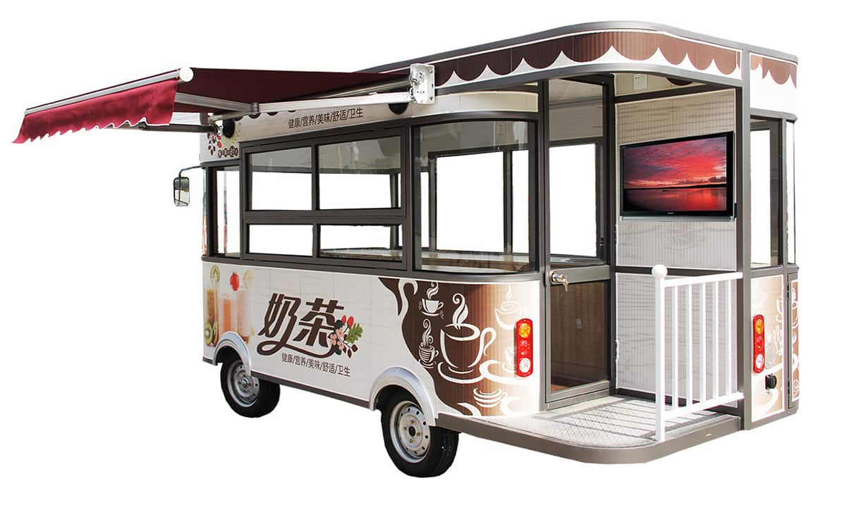 New design four wheels electric car for dining car