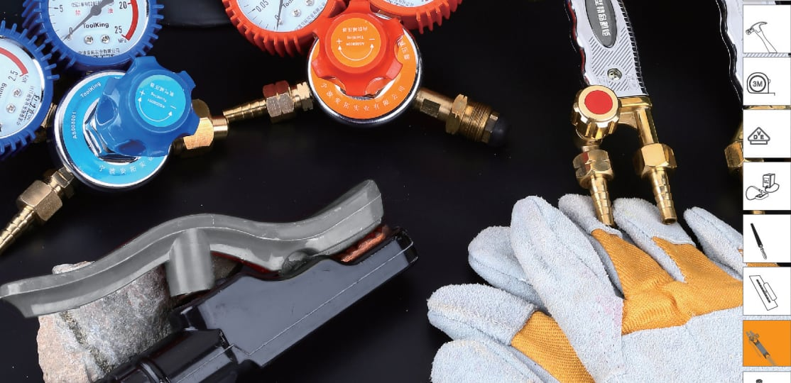 Antuo Industrial toolking Measuring Tool professional injection and welding torch American welding