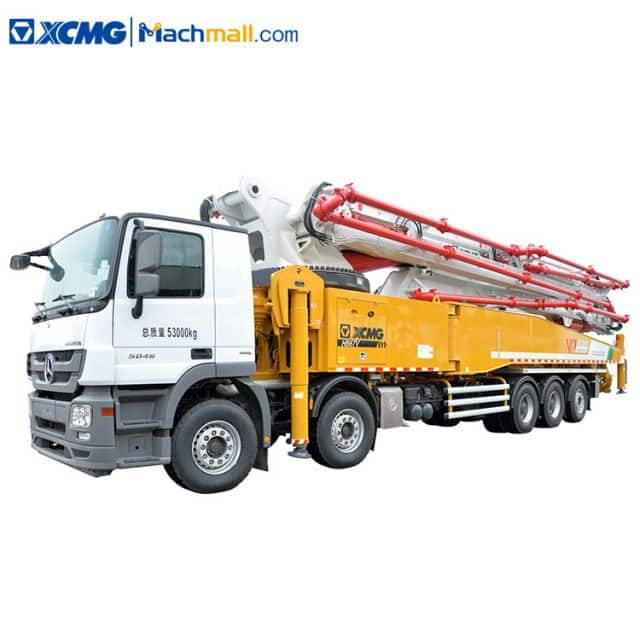 XCMG cement concrete pumps truck with Benz chassis HB67V price