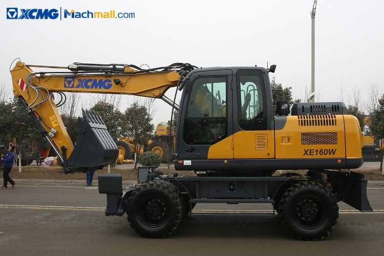 XCMG manufacturer 15 ton wheel excavator XE160W With Euro Stage IV for sale