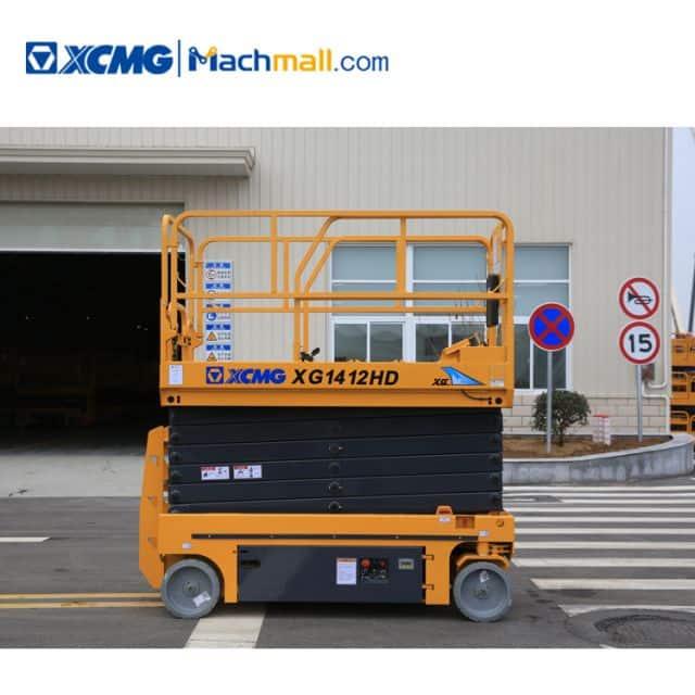 XCMG hydraulic scissor platform 14m XG1412HD aerial work platform price