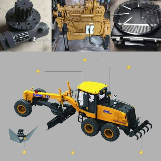 Consumable Spare Parts List of XCMG GR135 Motor Grader