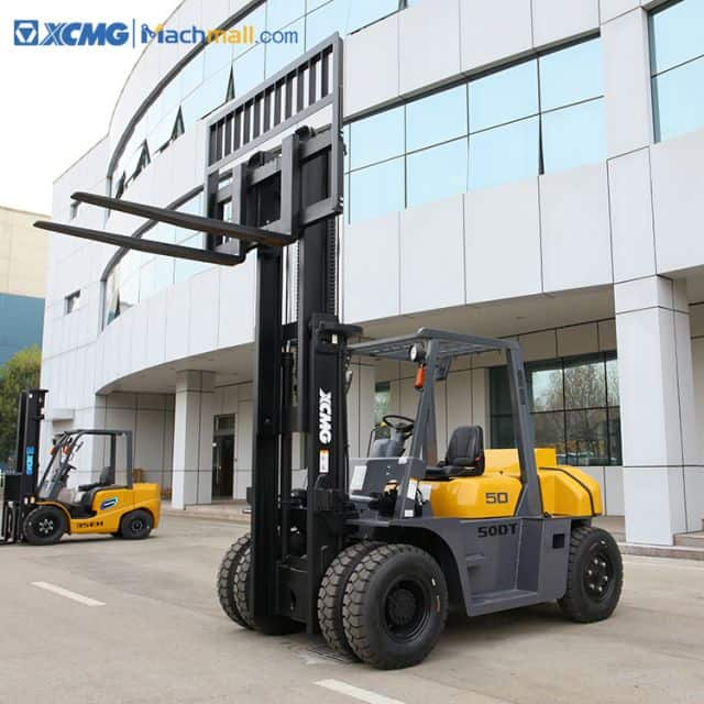 XCMG new 5 ton diesel forklift truck with 2.5m mast height price