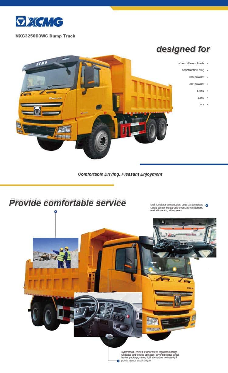 XCMG Offical 40 ton 6×4 NXG3250D3WC Dump Truck For Sale