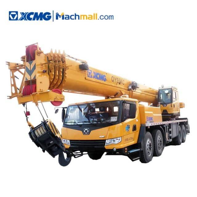 XCMG 55 ton hydraulic truck crane QY55KC price