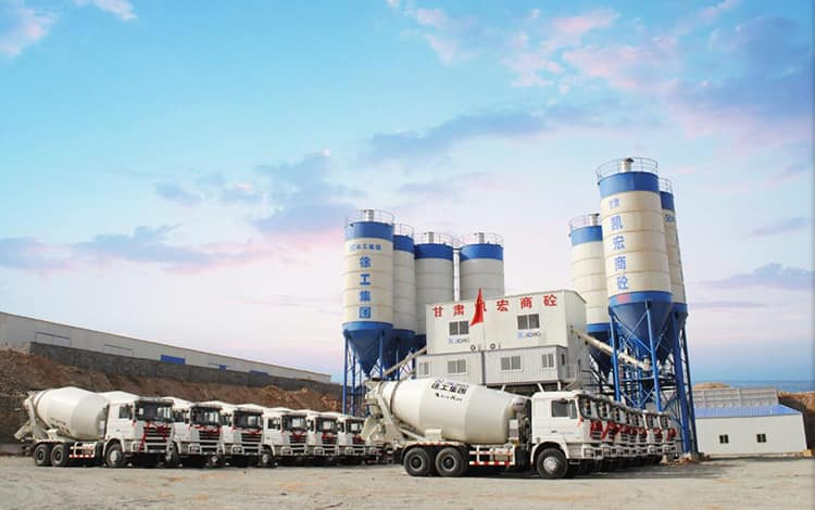 XCMG Factory HZS120K Brand New 120m3 Concrete Batching Plant Price List