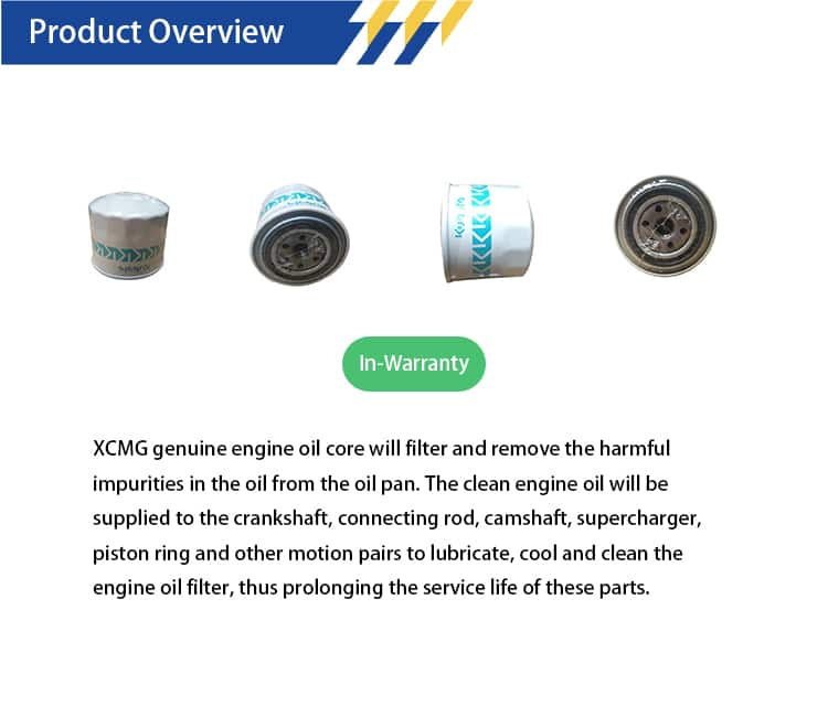 XCMG HH16432430 Oil filter element 800154595
