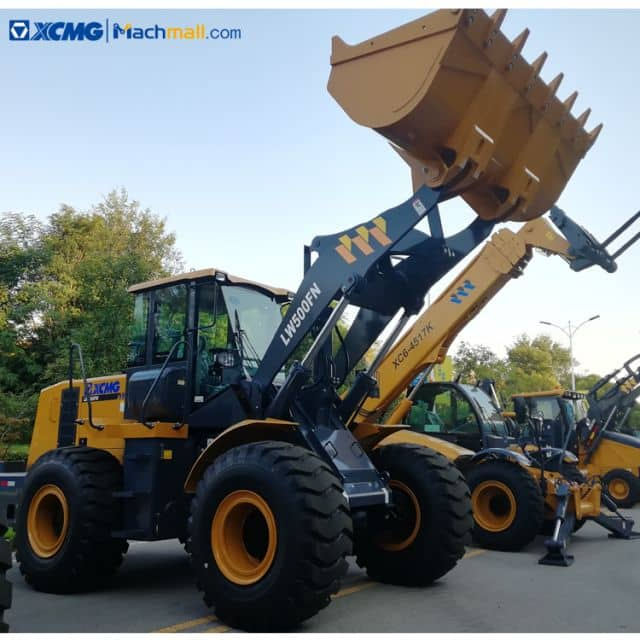 XCMG front wheel loader 5 ton LW500FN for construction price