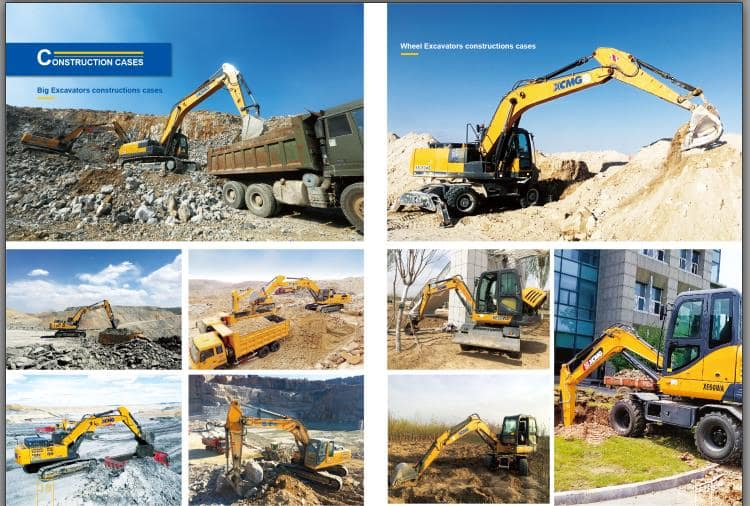 XCMG Official XE155WD 14 ton 0.58m3 China wheel excavator for sale