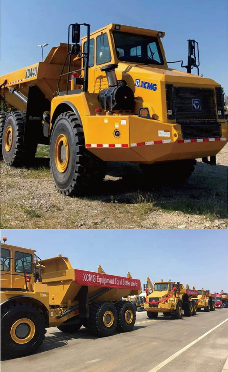 XCMG Manufacture 40ton Mining Machinery Articulated Dump Truck XDA40 Price for Sale