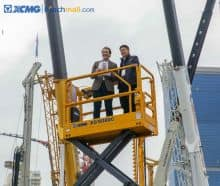 XCMG XG0807DCW 5.8m 230kg mobile scissor lift electric for sale