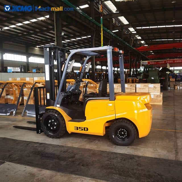XCMG new 3.5 ton diesel forklift XCB-D35 with 2075mm mast height price