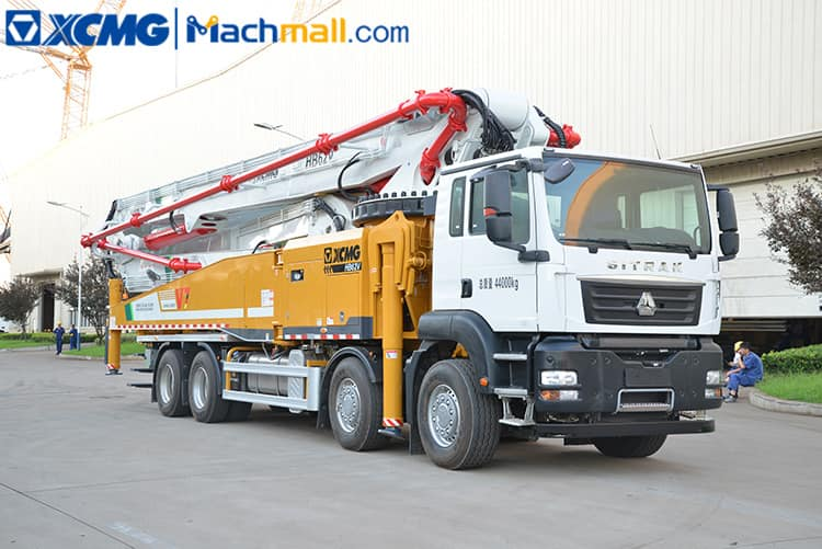 XCMG truck mounted pump for concrete with SITRAK chassis HB62V sale in Cambodia