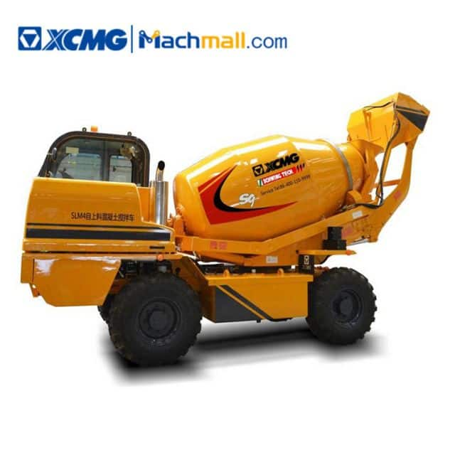 XCMG Manufacturer Mini Concrete Truck Mixer SLM4 mobile cement mixing machinery price