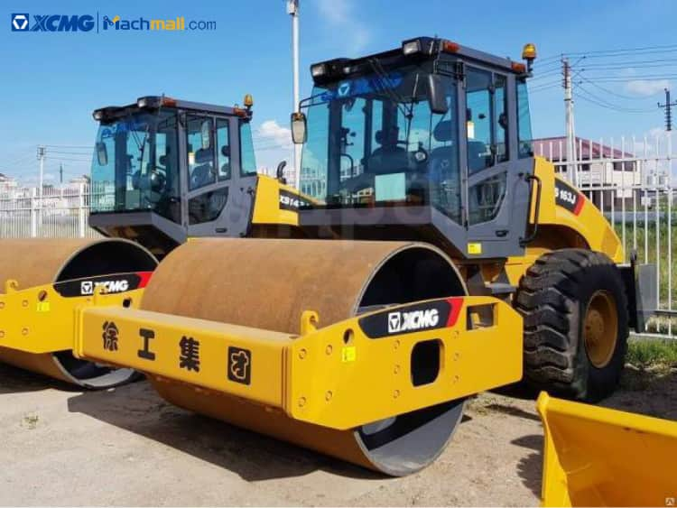 16ton XCMG single drum road roller XS163J price