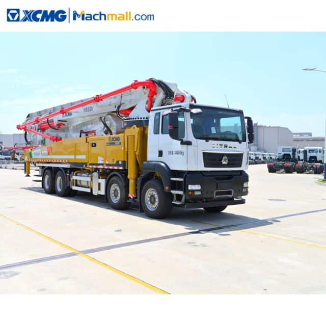 XCMG schwing germany concrete pumps HB58K with Sitrak chassis sale in Singapore