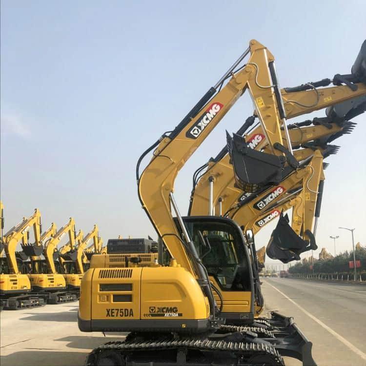 7.5 ton XCMG crawler excavator XE75DA price