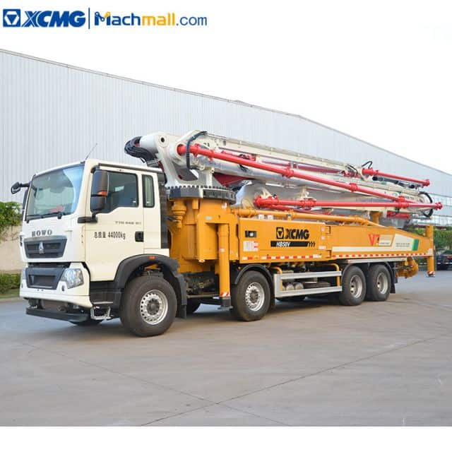 XCMG concrete pump machine diesel with HOWO chassis HB58V for sale
