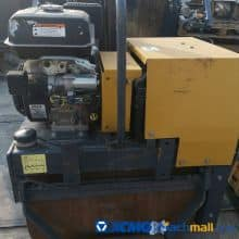 XCMG Used 1ton Mini walking hand single drum roll road roller XMR053 For Sale