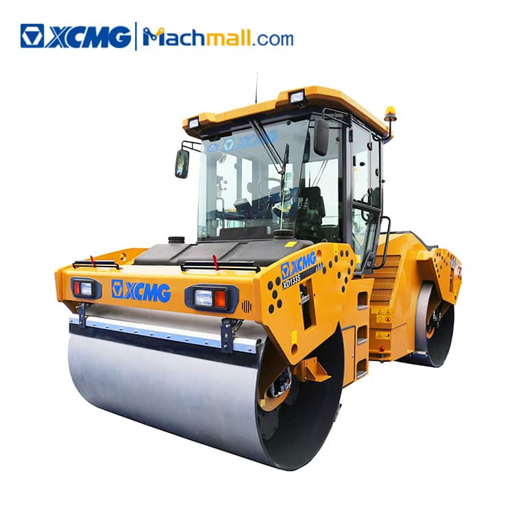 13 ton XCMG double drum vibratory road roller XD133S for sale