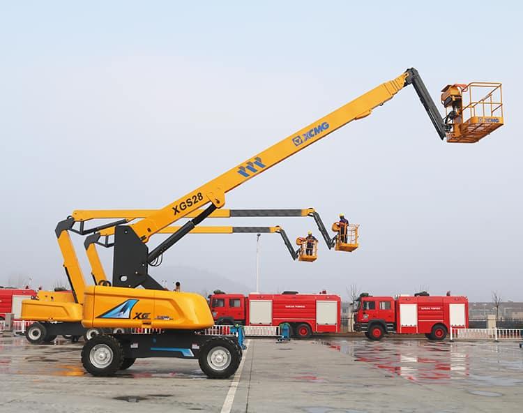 XCMG XGS28 boom lifts 30 meters hydraulic telescopic boom lift price