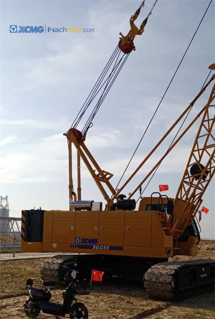 XCMG 55 ton crawler crane XGC 55 with catalog PDF