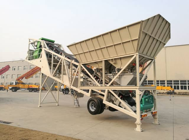XCMG Official HZS40 small concrete batching plant 40m3 mobile concrete batching plant for sale