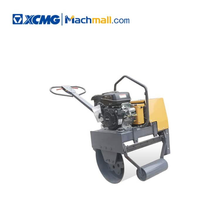 1 ton XCMG small walking hand single drum roll road roller XMR053 price