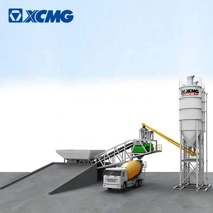 XCMG Original Manufacturer HZS60VY Brand New 60m3/h Mini Cement Batching Plant for Sale