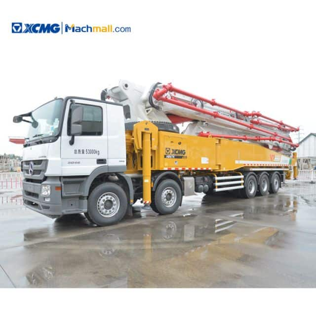 XCMG 70 Meter HB67K diesel concrete pump truck with Benz Chassis for Mexico price