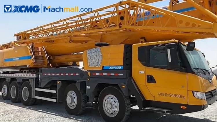 XCT100 crane price   XCMG XCT100 100 ton construction crane for sale