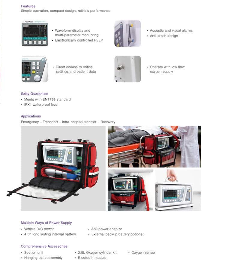 Shangrila 510S portable medical ventilator machine price