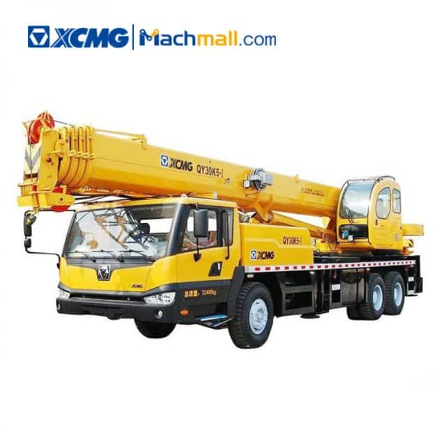 30 ton 5 jib XCMG mobile truck crane QY30K5-I price