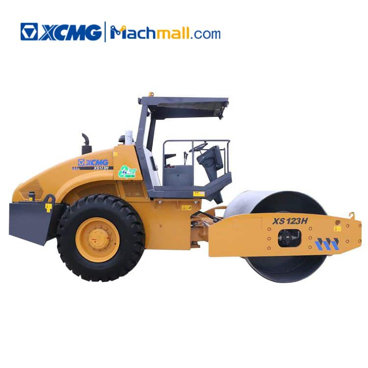 XCMG official XS123H 12 ton new vibratory roller compactor price