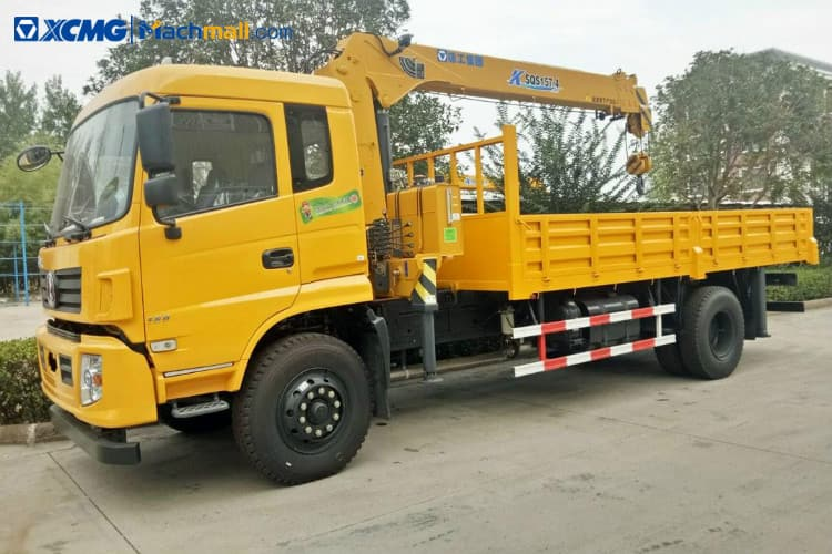 XCMG 5 ton small dump truck with crane price