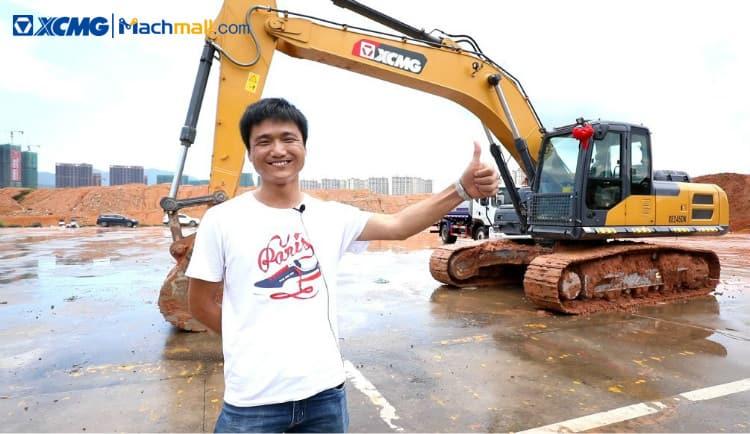XCMG 25 ton small energy saving mining excavator for sale
