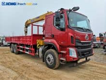 XCMG 8 tons 6 wheels dump truck with crane for sale