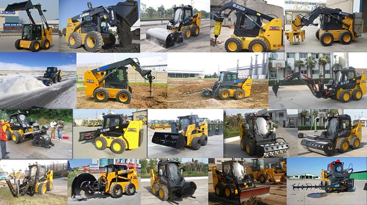 XCMG small skid steer loader with breaker XC740K price